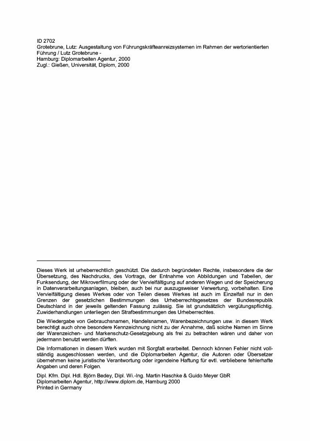 BoD-Leseprobe: Ausgestaltung von Führungskräfteanreizsystemen im ...