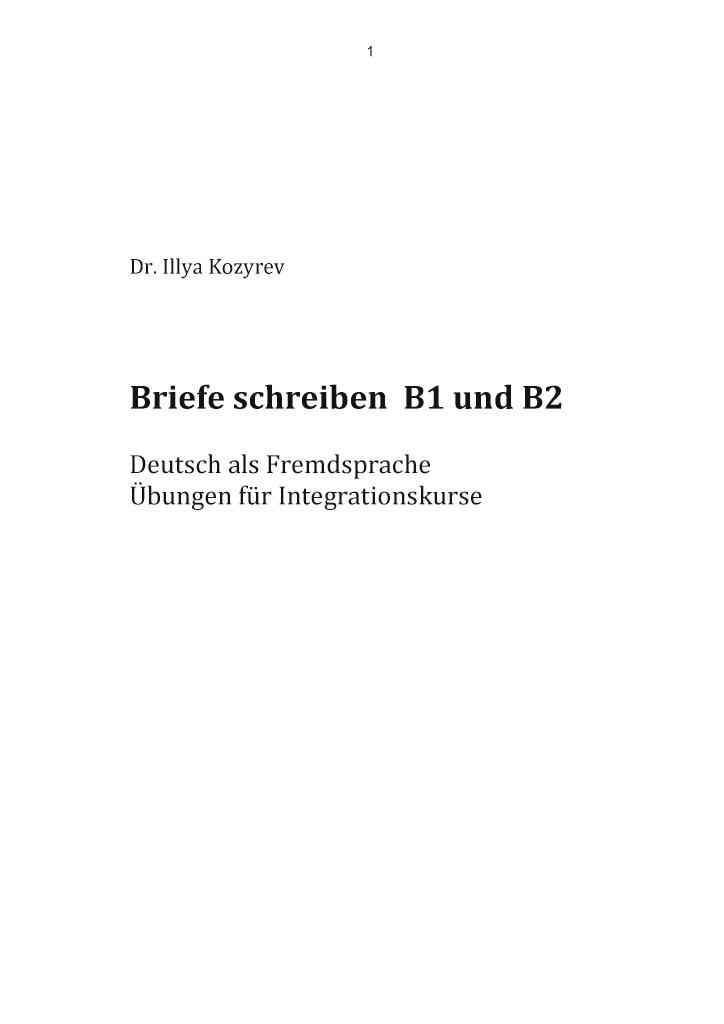 Bod Leseprobe Briefe Schreiben B1 Und B2