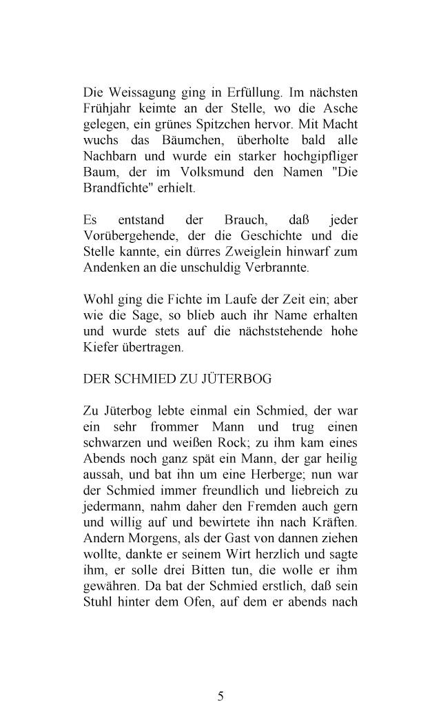 Bod Leseprobe Sagen Aus Brandenburg