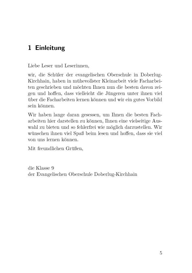 Facharbeit Beispiele Sozialwissenschaften Geschichte Mehr 8