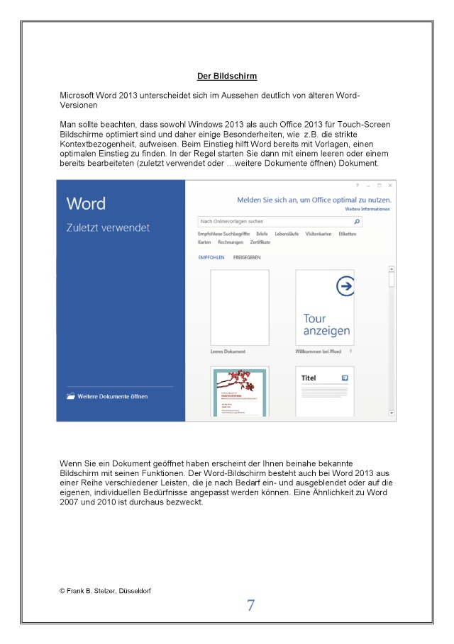 Bod Leseprobe Microsoft Word 2013