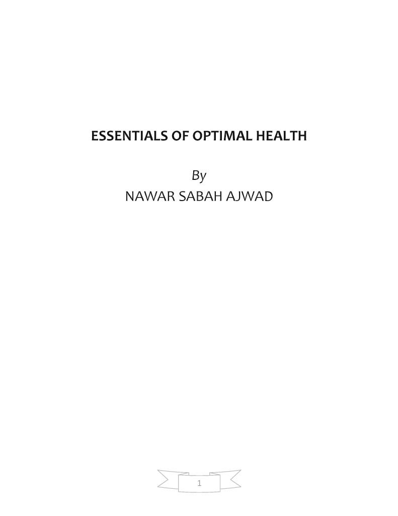 Bod Lasprov Essentials Of Optimal Health