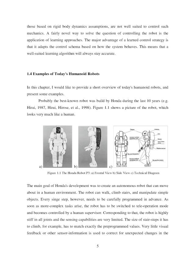 BoD-Leseprobe: Online-Learning in Humanoid Robots