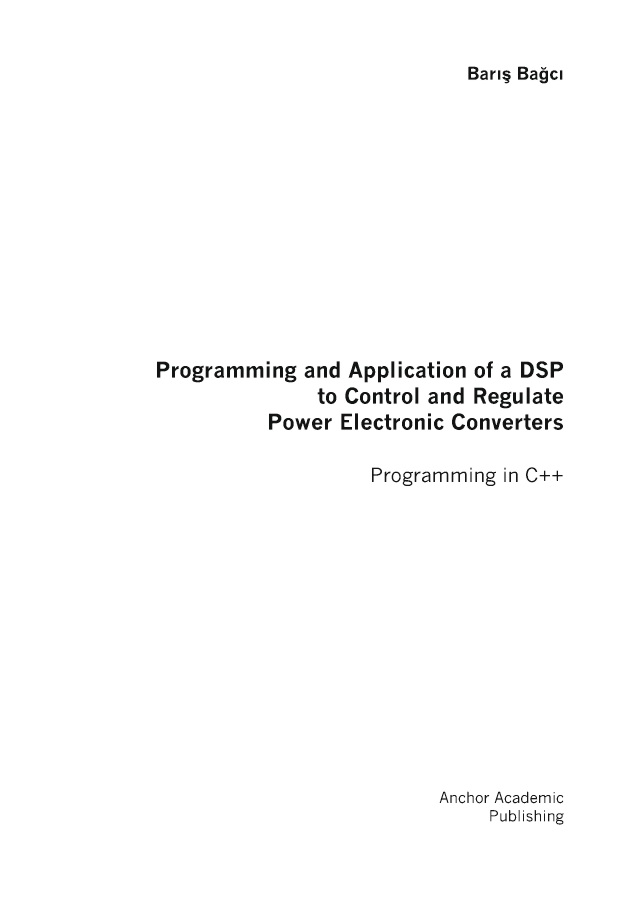 BoD-Leseprobe: Programming and Application of a DSP to Control and