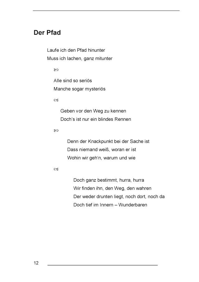 Bod Leseprobe Einfache Gedichte