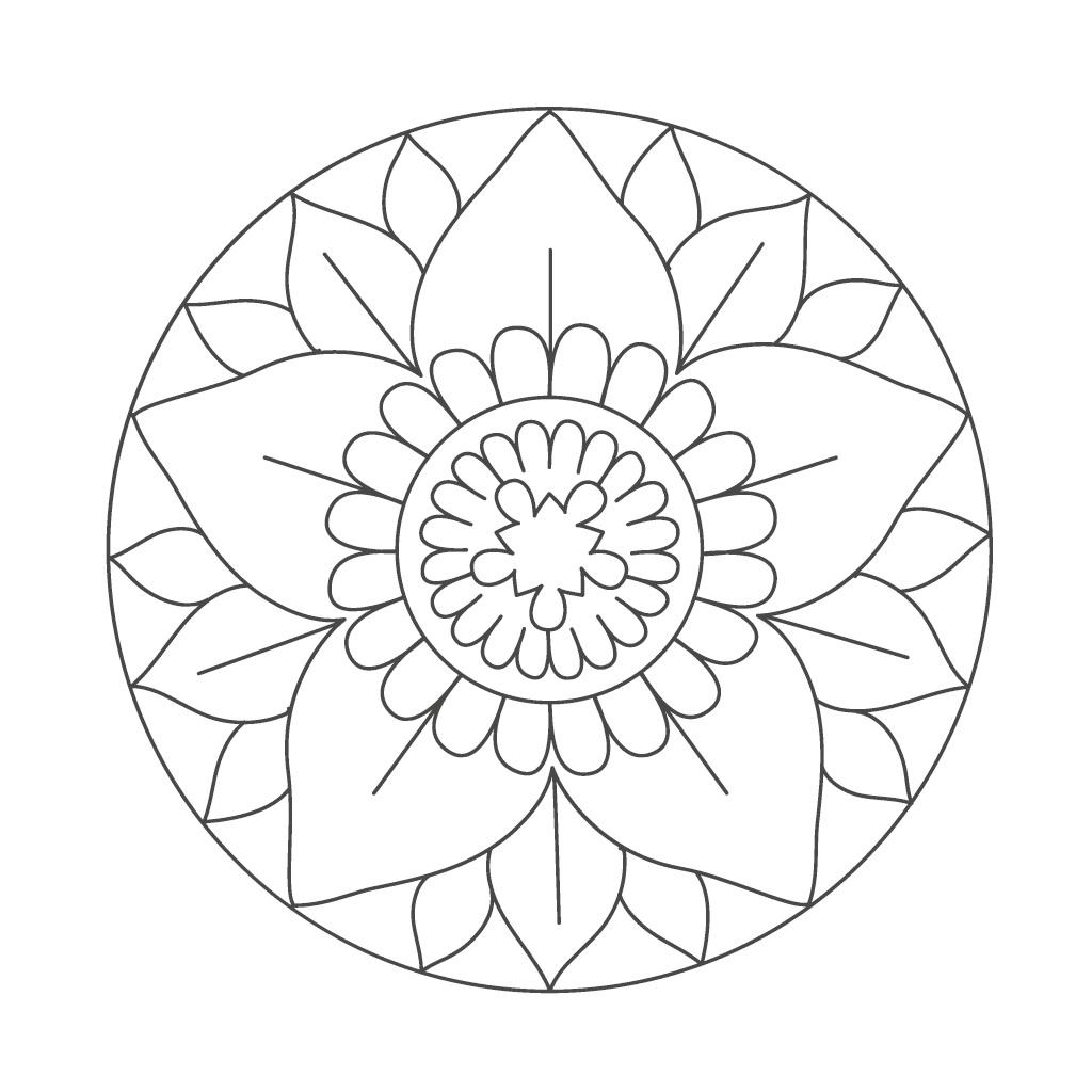 mandala malvorlagen senioren  zeichnen und färben