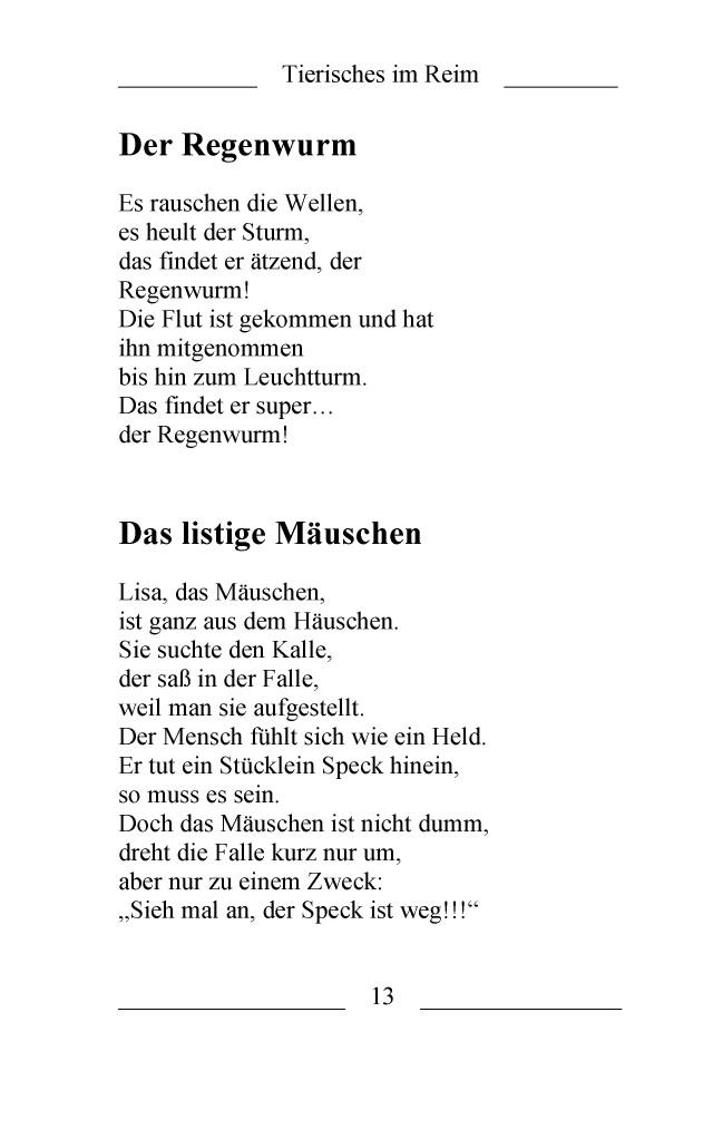 BoD-Leseprobe: Das kleine Gedicht