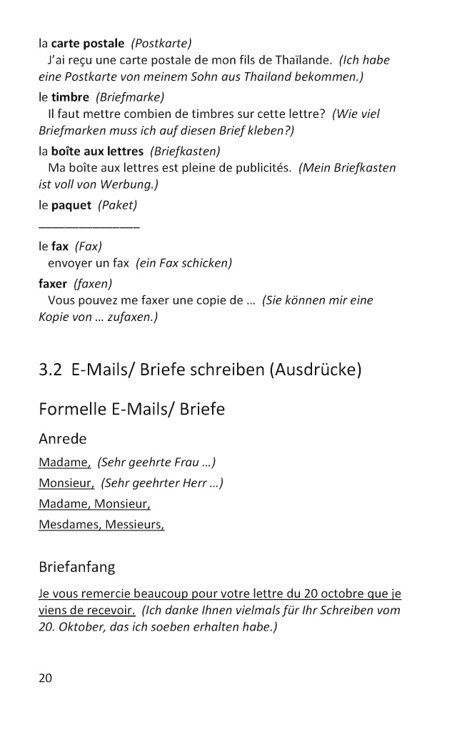 Bod Leseprobe Grundwortschatz Französisch