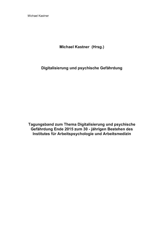 digitalisierung und psychische gefhrdung