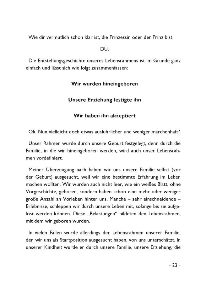 BoD-Leseprobe: Anleitung zum aus dem Rahmen fallen