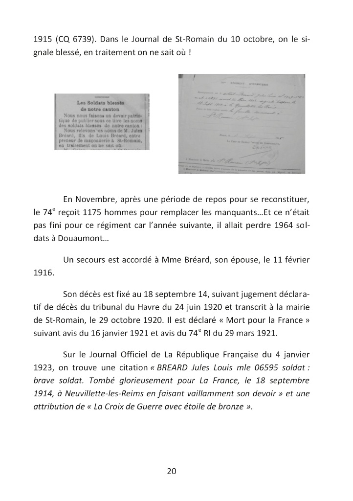 Citations sur la datation d'un pompier