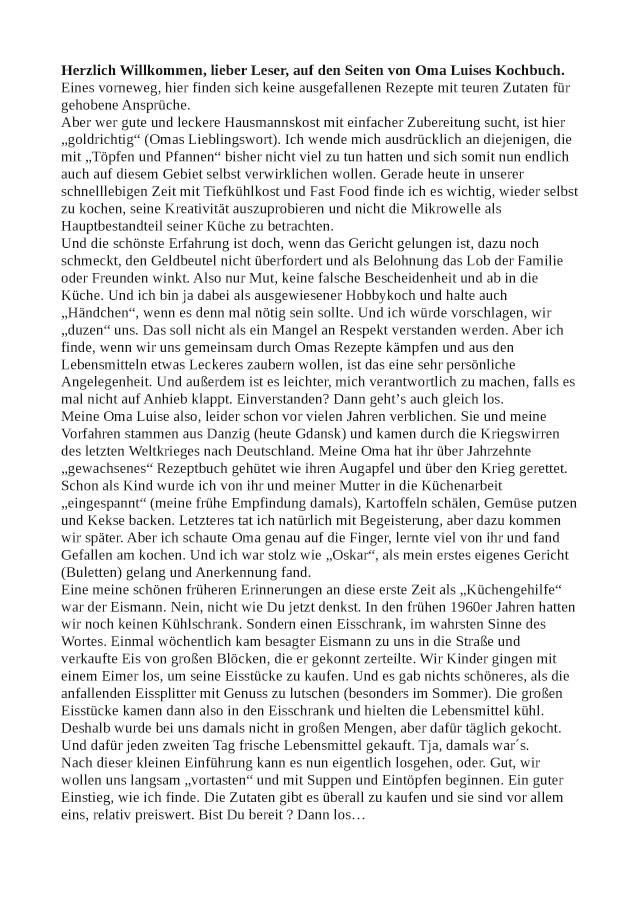 TWENTYSIX-Leseprobe: Aus Oma Luises Rezeptbuch