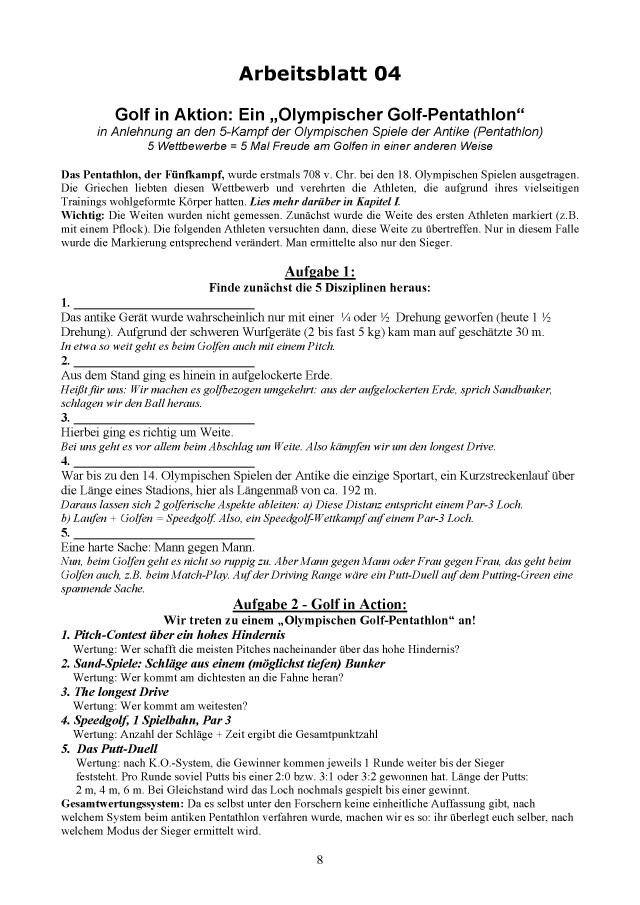 BoD-Leseprobe: Das Arbeitsheft zum Buch \
