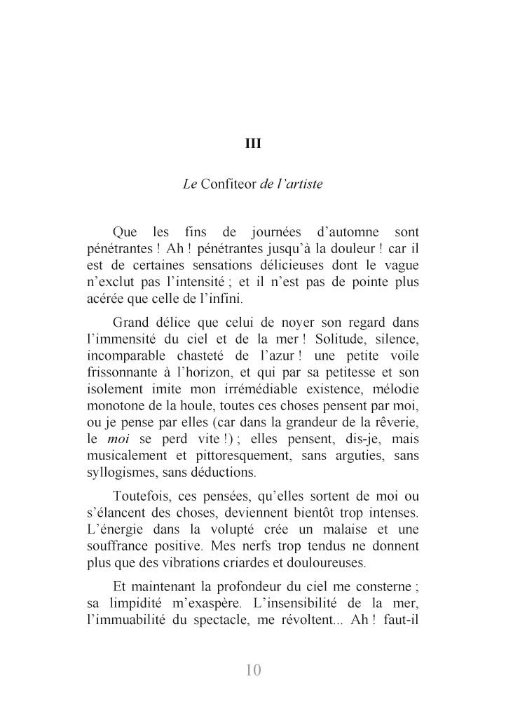 Lire Un Extrait Avec Bod Le Spleen De Paris Petits Poèmes