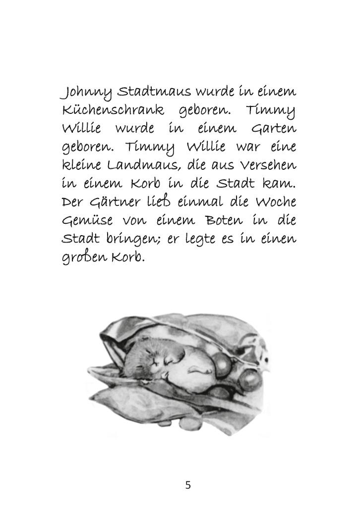 Bod Leseprobe Die Geschichte Von Johnny Stadtmaus Inklusive Ausmalbilder Und Cliparts Zum Download