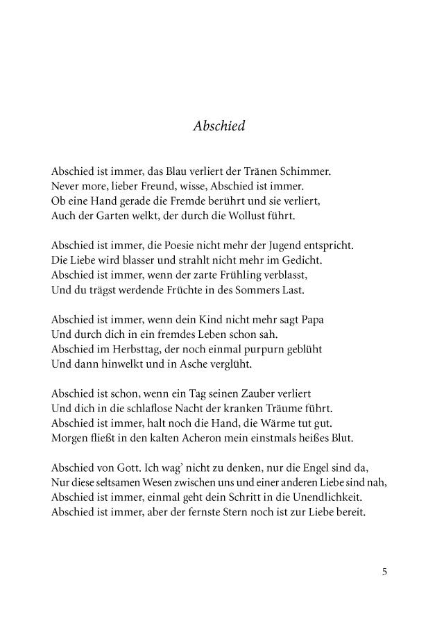 Bod Leseprobe Späte Gedichte