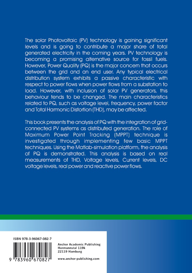 BoD-Leseprobe: Solar Photovoltaics Engineering  A Power Quality