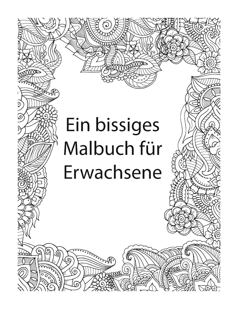 Bod Leseprobe Das Lustige Fluch Und Schimpf Malbuch Fur