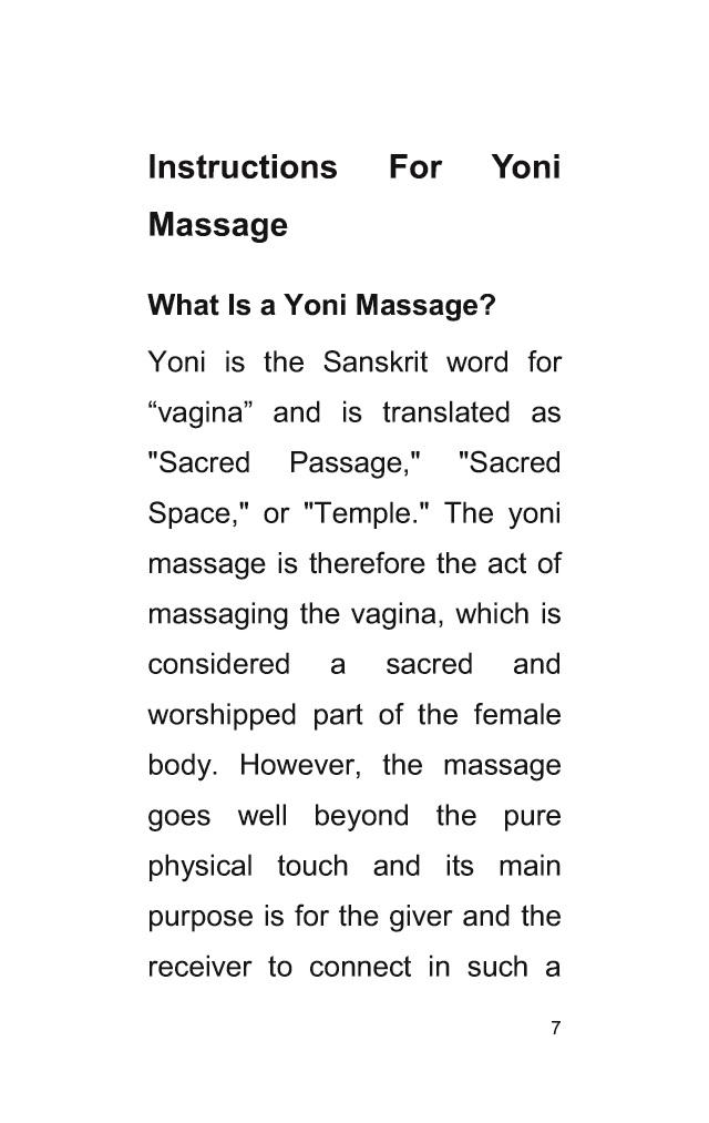 Bod Leseprobe Instructions For Yoni Massage