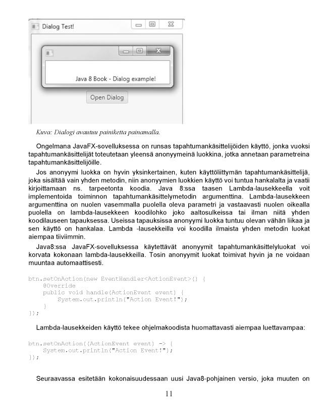 BoD-lukunäyte: Pieni Java 8 -kirja