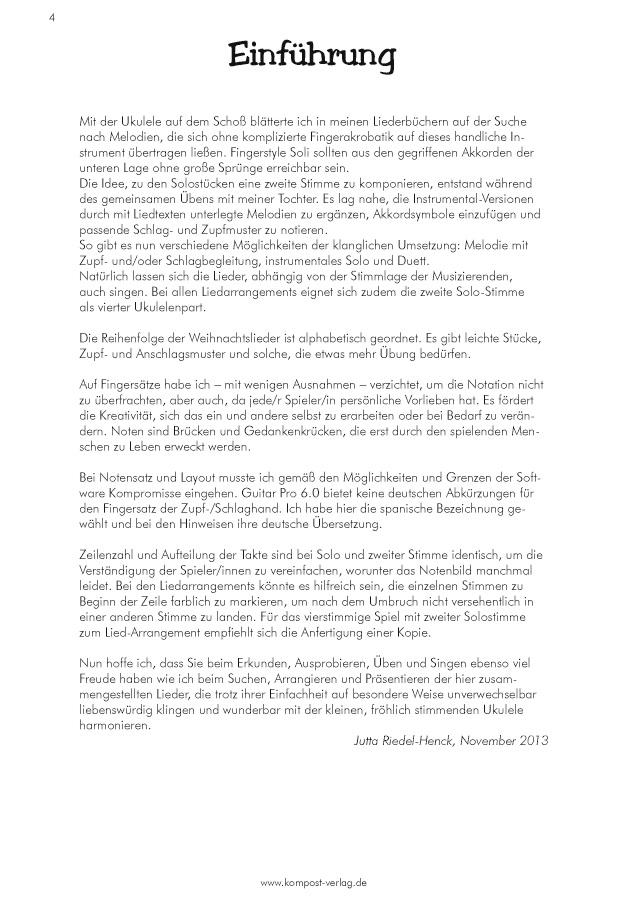 Weihnachtslieder Alphabetisch.Bod Leseprobe 12 Weihnachtslieder Für Ein Bis Drei Ukulelen