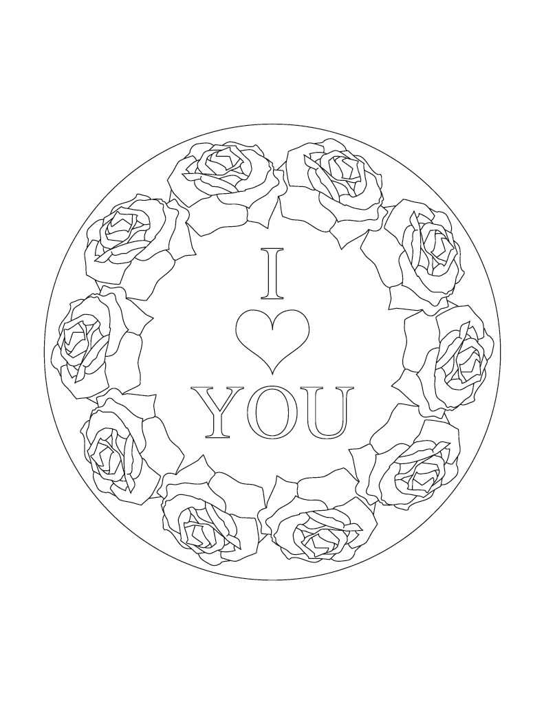BoD-Leseprobe: Mandalas Liebe Rosen Herzen