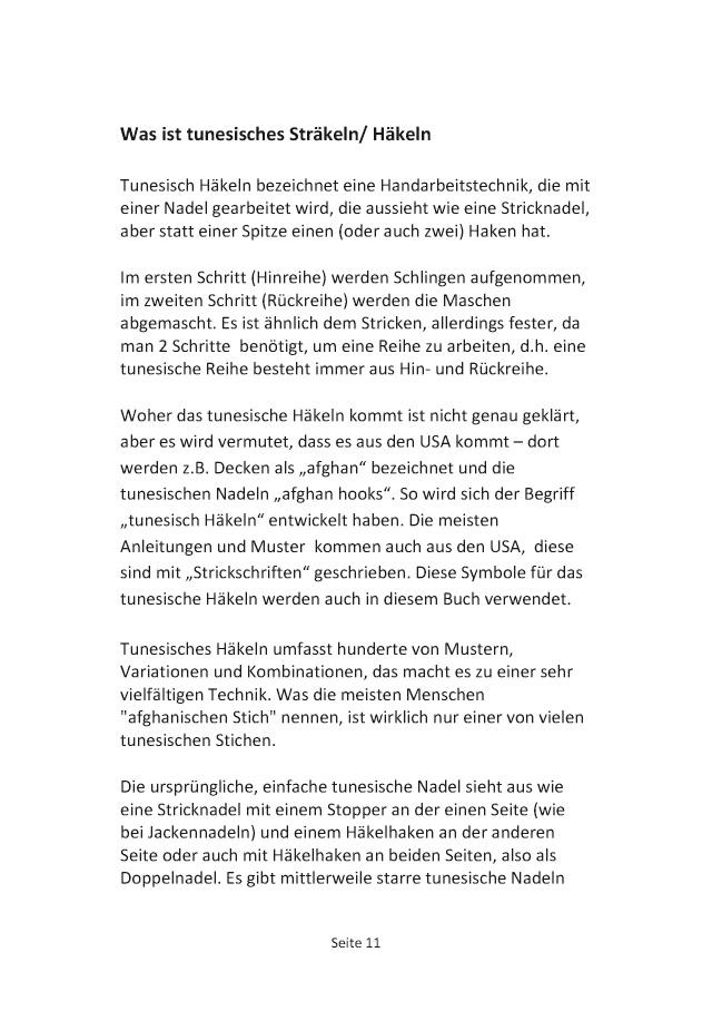 Bod Leseprobe Tunesisch Sträkeln Tunesisch Häkeln