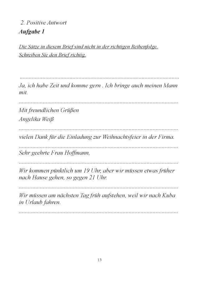 Bod Leseprobe Brieftraining Für Deutschlerner