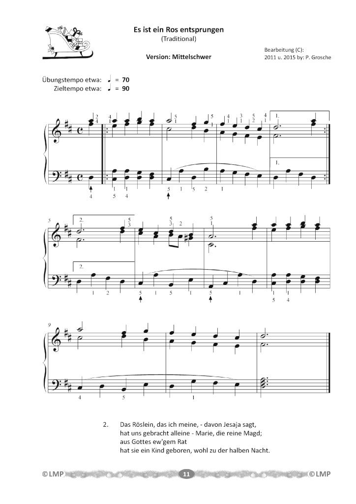 BoD-Leseprobe: Piano-Christmas - Weihnachtslieder für das Klavierspielen